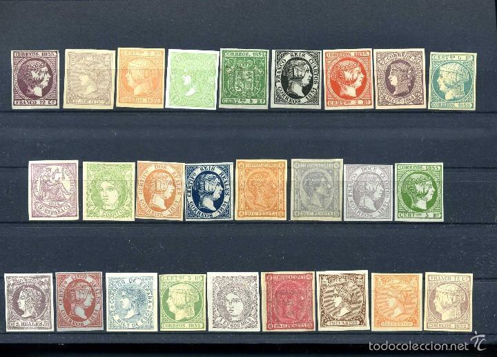 26 SELLOS CLASICOS ESPAÑOLES A IDENTIFICAR Y CATALOGAR SON DE 1800 TIEMPO DE ISABEL II - MIRAR -Nº22 (Sellos - España - Isabel II de 1.850 a 1.869 - Nuevos)