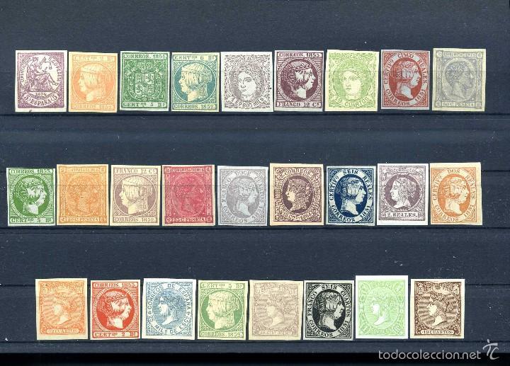 26 SELLOS CLASICOS ESPAÑOLES A IDENTIFICAR Y CATALOGAR SON DE 1800 TIEMPO DE ISABEL II - MIRAR -Nº29 (Sellos - España - Isabel II de 1.850 a 1.869 - Nuevos)