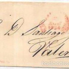 Sellos: CARTA CIRCULA DE VALENCIA. 1854.. Lote 56382139