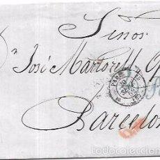 Sellos: CARTA CIRCULADA DE PARIS A BARCELONA. AÑO 1852.. Lote 56382372