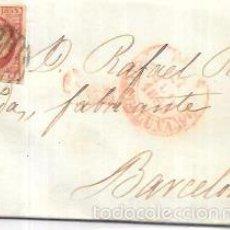 Sellos: CARTA CIRCULADA DE REUS A BARCELONA. AÑO 1853.. Lote 56387391