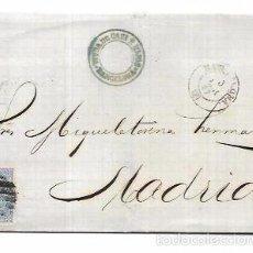Sellos: CARTA CIRCULADA DE BARCELONA A MADRID. AÑO 1867.. Lote 56387582