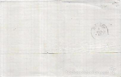 Sellos: CARTA CIRCULADA DE BARCELONA A MADRID. AÑO 1867. - Foto 2 - 56387582