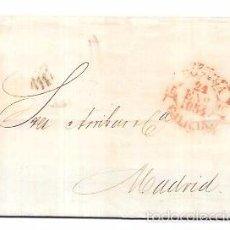 Sellos: CARTA CIRCULADA DE GALICIA A MADRID. AÑO 1854.. Lote 56387655
