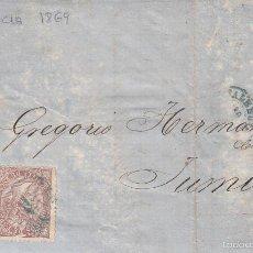 Sellos: CARTA COMPLETA DE VALENCIA A JUMILLA --1869---. Lote 56464205