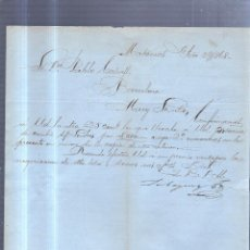 Sellos: CIRCULAR PUBLICITARIA. LABAYEN & CIA. DE MATANZAS, CUBA A BARCELONA. CON SELLO. VER. 1868. Lote 56784808