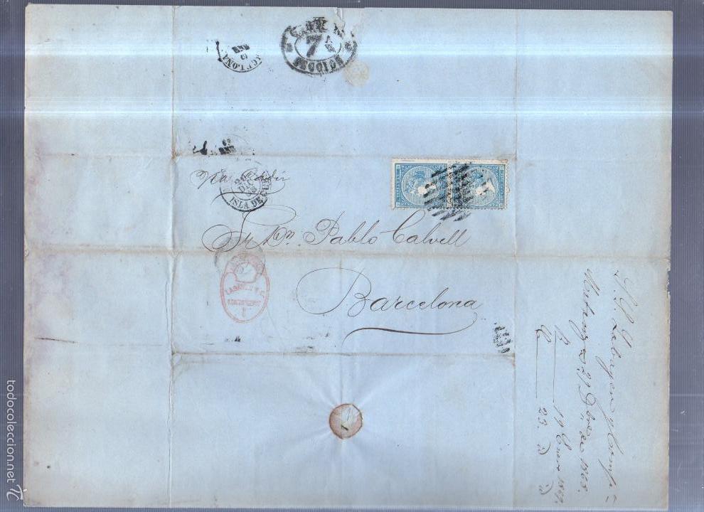 Sellos: CIRCULAR PUBLICITARIA. LABAYEN & CIA. DE MATANZAS, CUBA A BARCELONA. CON SELLO. VER. 1868 - Foto 2 - 56784808