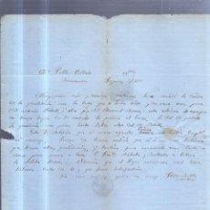 Sellos: CIRCULAR PUBLICITARIA. JOSE BAFLLE. DE FIGUERAS A BARCELONA. 1868. CON SELLO. VER. Lote 56785158
