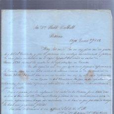 Sellos: CIRCULAR PUBLICITARIA. VDA DE RAMON A.MARTINEZ. DE VIGO A BARCELONA. 1869. CON SELLO. VER. Lote 56785398