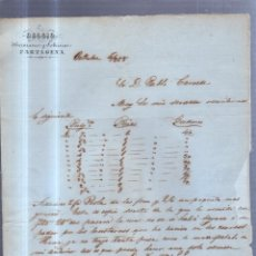 Sellos: CIRCULAR PUBLICITARIA. DOGGIO. DE CARTAGENA A BARCELONA. 1868. CON SELLO. VER. Lote 56785493