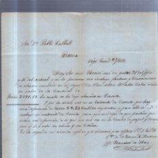 Sellos: CIRCULAR PUBLICITARIA. FRANCISCO DE HAZ. DE VIGO A BARCELONA. 1868. CON SELLO. VER. Lote 56785808