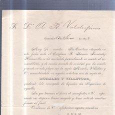Sellos: CIRCULAR PUBLICITARIA. MORALES Y VILLATORO. DE GRANADA A JEREZ. 1893. CON SELLO. VER. Lote 56786467