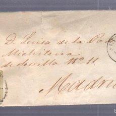 Sellos: CARTA DIRIGIDA DE SEVILLA A MADRID. VER SELLO. Lote 56865976