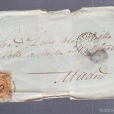 Sellos: CARTA DIRIGIDA DE SANTANDER A MADRID. VER SELLO. Lote 56866013