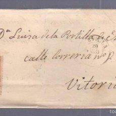 Sellos: CARTA DIRIGIDA DE SEVILLA A VITORIA. VER SELLO. Lote 56868024