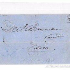 Sellos: CARTA. 1868. SEVILLA A CADIZ.. Lote 57101723