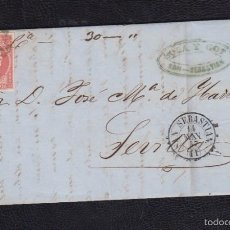 Sellos: 1857.- SAN SEBASTIAN A SEVILLA. Lote 57187732