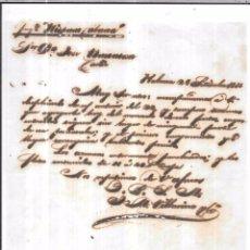 Sellos: CARTA LA HABANA - CADIZ. POR FRAGATA HISPANO CUBANA . 1856.. Lote 57227501