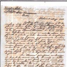 Sellos: CARTA LA HABANA - CADIZ. POR VIA NEW YORK. 1856.. Lote 57227693