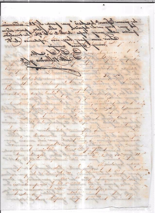 Sellos: CARTA LA HABANA - CADIZ. POR VIA NEW YORK. 1856. - Foto 2 - 57227693