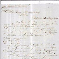 Sellos: CARTA LA HABANA - CADIZ. POR GENERAL CHURRUCA. 1856.. Lote 57227735