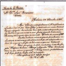 Sellos: CARTA LA HABANA - CADIZ. POR VIA DE LOS ESTADOS UNIDOS. 1856.. Lote 57227760