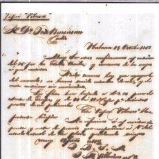 Sellos: CARTA LA HABANA - CADIZ. POR VAPOR VELASCO. 1856.. Lote 57227782