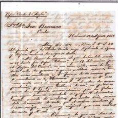 Sellos: CARTA LA HABANA - CADIZ. POR CONDE DE REGLA . 1856.. Lote 57227844