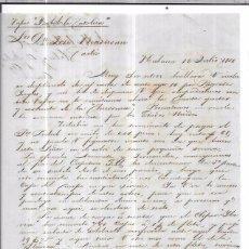 Sellos: CARTA LA HABANA - CADIZ. POR VAPOR ISABEL LA CATOLICA. AÑO 1856.. Lote 57227883
