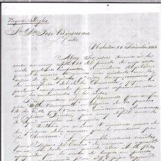 Sellos: CARTA LA HABANA - CADIZ. POR PAQUETE INGLES. AÑO 1856.. Lote 57227901