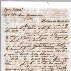 Sellos: CARTA LA HABANA - CADIZ. POR VAPOR VELASCO. AÑO 1856.. Lote 57227980