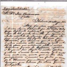 Sellos: CARTA LA HABANA - CADIZ. POR VAPOR FRANCISCO DE ASIS. AÑO 1856.. Lote 57228016