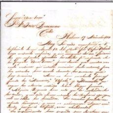 Sellos: CARTA LA HABANA - CADIZ. POR FRAGATA ANA TERESA. 1857.. Lote 57228150
