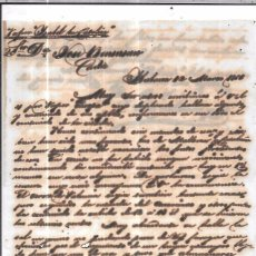 Sellos: CARTA LA HABANA - CADIZ. POR VAPOR ISABEL LA CATOLICA. 1856.. Lote 57228187