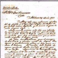Sellos: CARTA LA HABANA - CADIZ. POR VIA NEW YORK. AÑO 1856. Lote 57228288