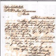 Sellos: CARTA LA HABANA - CADIZ. POR VAPOR VIA NEW YORK. AÑO 1856.. Lote 57228326