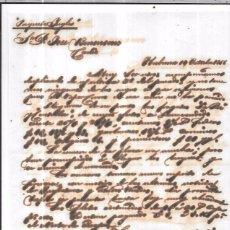 Sellos: CARTA LA HABANA - CADIZ. POR PAQUETE INGLES. AÑO 1856.. Lote 57228341