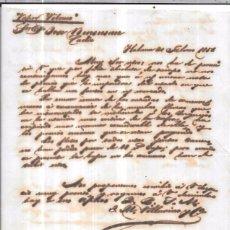 Sellos: CARTA LA HABANA - CADIZ. POR VAPOR VELASCO. AÑO 1856.. Lote 57228358