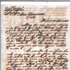 Sellos: CARTA LA HABANA - CADIZ. POR VAPOR EUROPA. AÑO 1856.. Lote 57228430