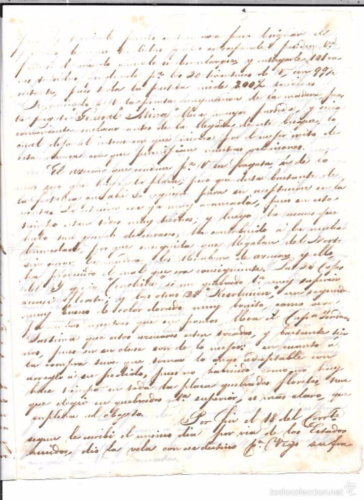 Sellos: CARTA LA HABANA - CADIZ. POR FRAGATA SOLIS. AÑO 1854. - Foto 2 - 57228672