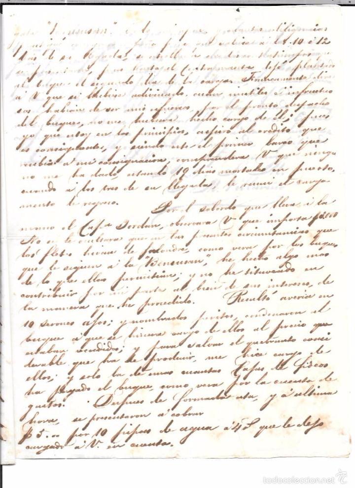 Sellos: CARTA LA HABANA - CADIZ. POR FRAGATA SOLIS. AÑO 1854. - Foto 3 - 57228672