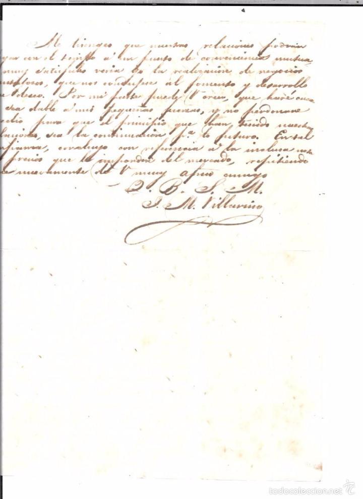 Sellos: CARTA LA HABANA - CADIZ. POR FRAGATA SOLIS. AÑO 1854. - Foto 4 - 57228672