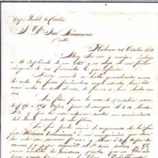 Sellos: CARTA LA HABANA - CADIZ. POR VAPOR ISABEL LA CATOLICA. 1854.. Lote 57228772