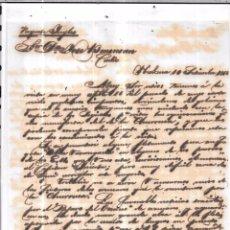 Sellos: CARTA LA HABANA - CADIZ. POR PAQUETE INGLES. AÑO 1856.. Lote 57228795