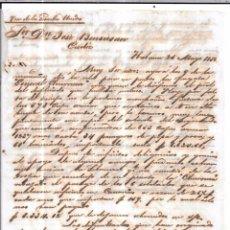 Sellos: CARTA LA HABANA - CADIZ. POR VIA DE LOS ESTADOS UNIDOS. AÑO 1856.. Lote 57228825