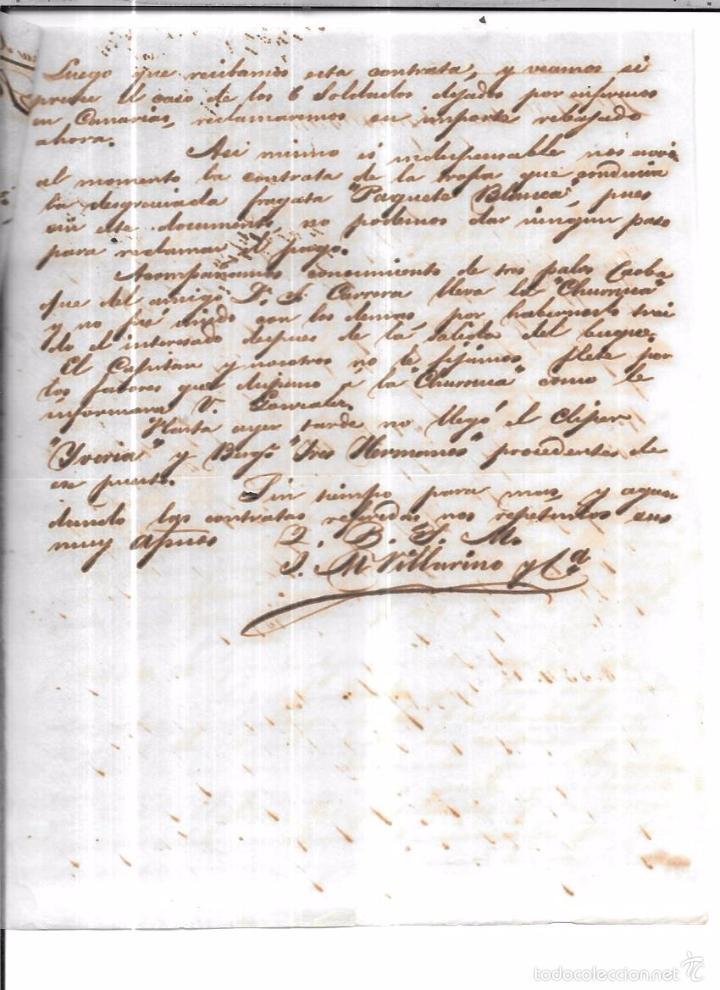 Sellos: CARTA LA HABANA - CADIZ. POR VIA DE LOS ESTADOS UNIDOS. AÑO 1856. - Foto 2 - 57228825