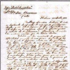 Sellos: CARTA LA HABANA - CADIZ. POR ISABEL LA CATOLICA. AÑO 1856.. Lote 57228858