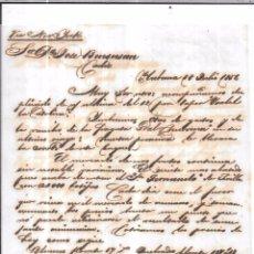 Sellos: CARTA LA HABANA - CADIZ. POR VIA NEW YORK. AÑO 1856.. Lote 57228873