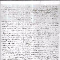 Sellos: CARTA LA HABANA - CADIZ. POR FRAGATA BENSUSAN. AÑO 1856.. Lote 57228990