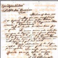 Sellos: CARTA LA HABANA - CADIZ. POR VAPOR PAJARO DEL GUAMAR. AÑO 1856.. Lote 57229004